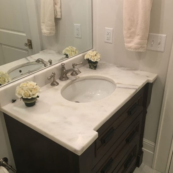 Imperial Danby–Danby Marble–Install–Bath–Absolute (Fabricator)–Selden Martin (Home Owner)3