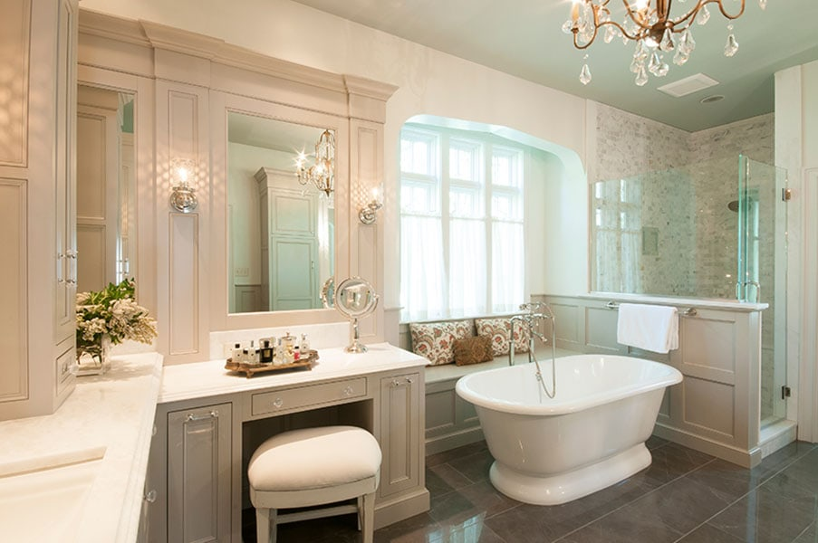 Bianco Imperial Honed–Marble–Install–Bath1
