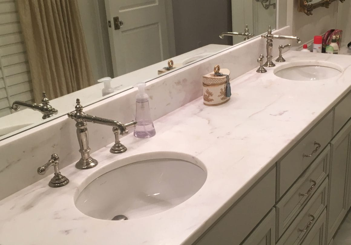 Imperial Danby–Danby Marble–Install–Bath–Absolute (Fabricator)–Selden Martin (Home Owner)2