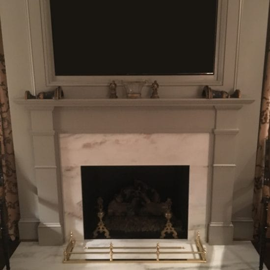 Imperial Danby–Danby Marble–Install–Fireplace–Absolute (Fabricator)–Selden Martin (Home Owner)